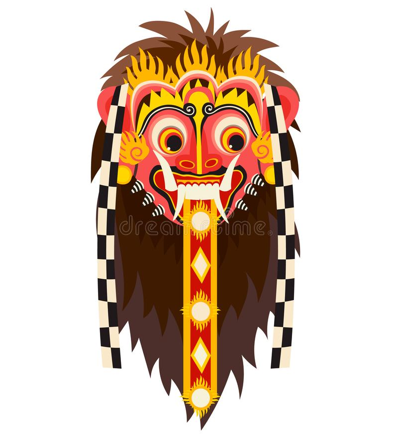 Barong bali mask. Bali landmarks vector ilustration royalty free illustration