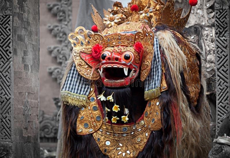 Barong - caractère en mythologie de Bali, Indonésie. photographie stock