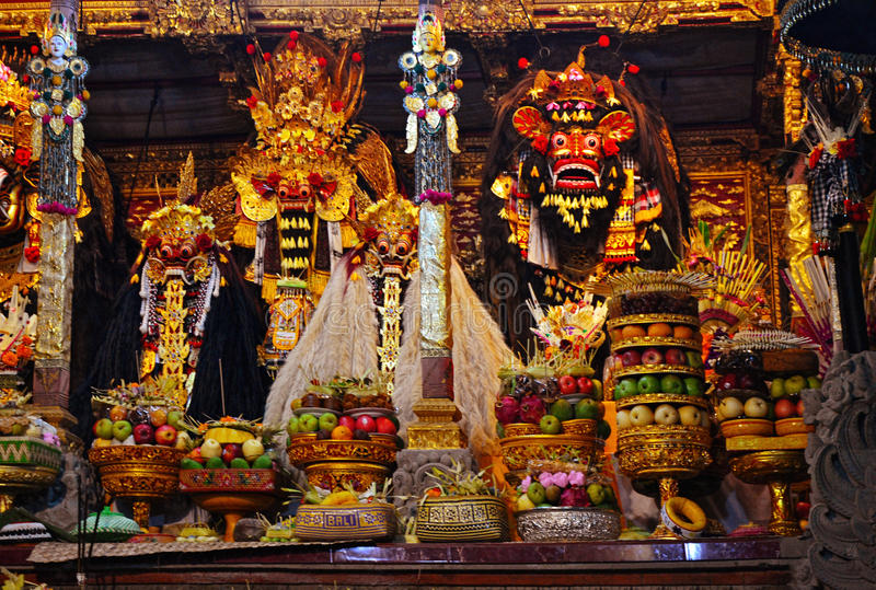 Barong charakterem jest indonezja istotą i w mitologii Bali, Indonezja fotografia royalty free