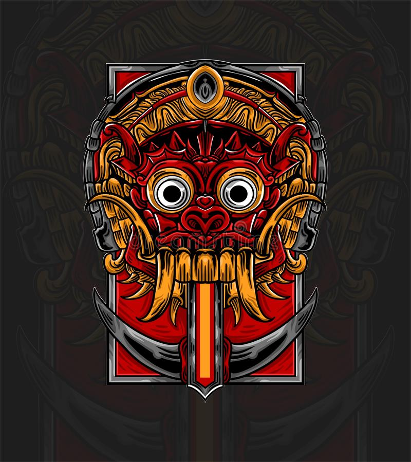 barong culture from bali indonesia stock vector illustration of design cultural 163465919 barong culture from bali indonesia
