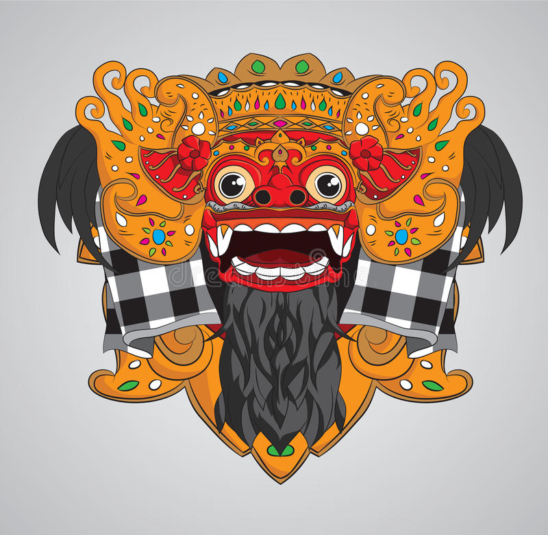 Barong Mask royalty free illustration