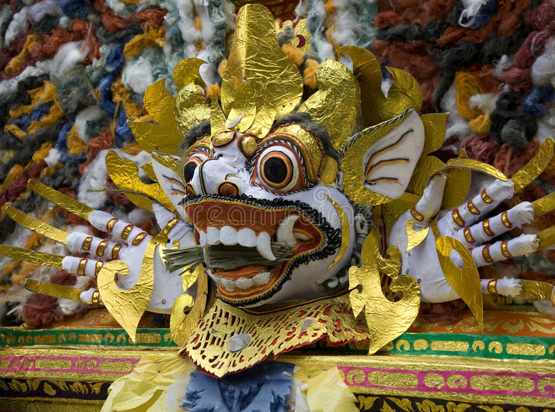 Barong mask 1 stock photos