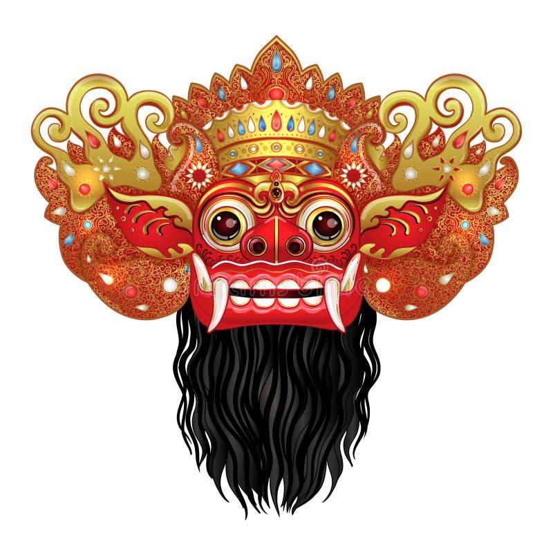 Barong. Traditional ritual Balinese mask. Vector color illustrat vector illustration