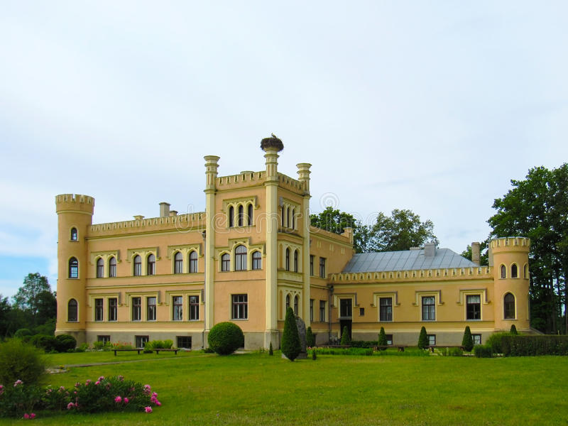 Baronial Castle of the 19th century. In Latvia royalty free stock photography
