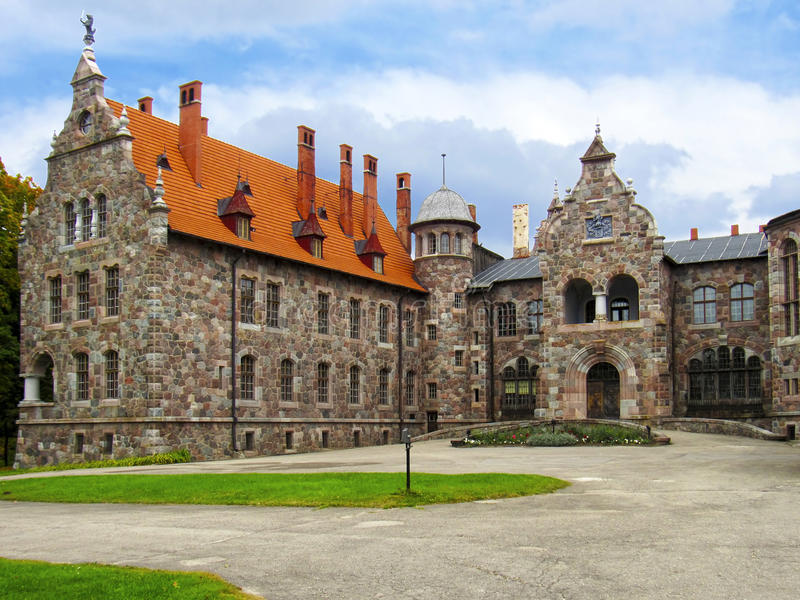 Baronial Castle of the 19th century. In Latvia royalty free stock photos