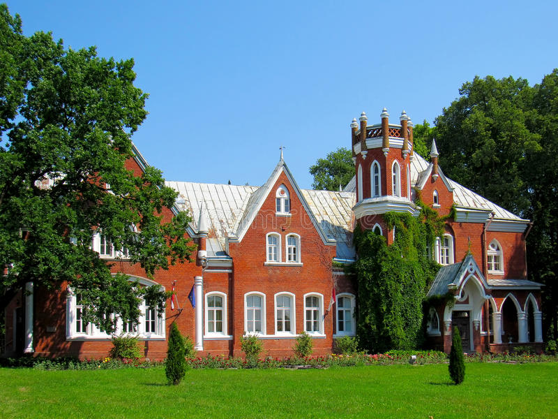 Baronial manor of the 19th century. In the Chervonka, Latvia royalty free stock photos