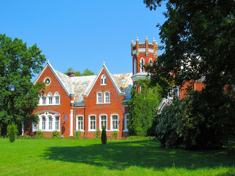 Baronial manor of the 19th century. In the Chervonka, Latvia stock photography