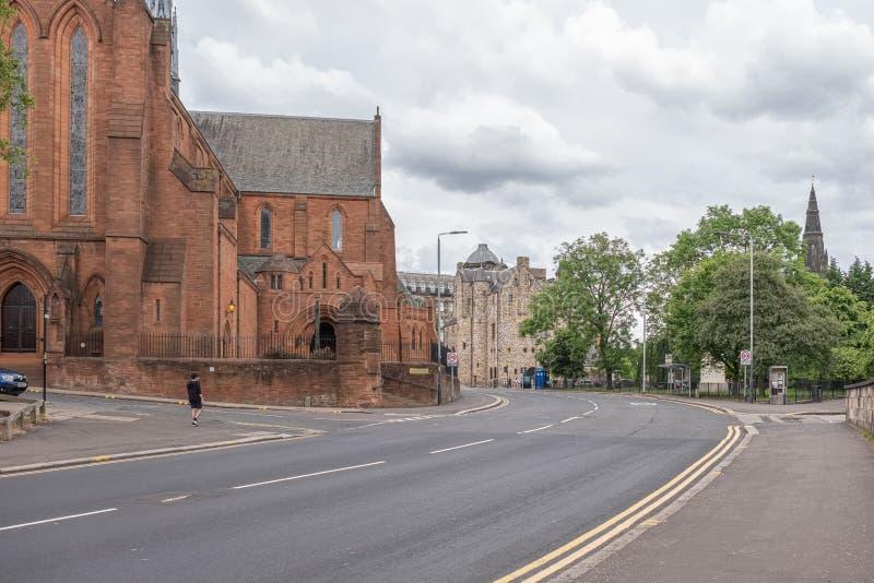 Baronostwo Farny kościół w Grodowej ulicie przy skrzyżowaniem z Rottenrow i Macleod Ulicznym uniwersytetem Strathclyde ceremoniał fotografia stock