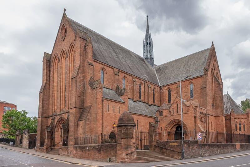 Baronostwo Farny kościół w Grodowej ulicie przy skrzyżowaniem z Rottenrow i Macleod Ulicznym uniwersytetem Strathclyde ceremoniał zdjęcie royalty free