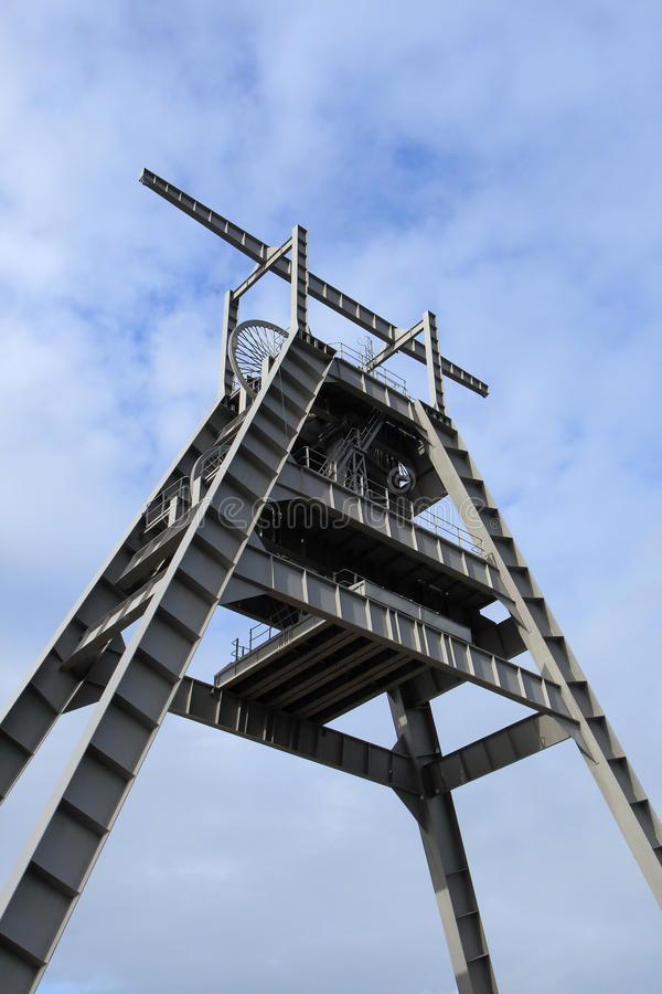 Barony A Frame. The Barony A Frame Monument is a vast steel structure , originally part of the winding gear at a shaft of the former Barony colliery , has been stock photos