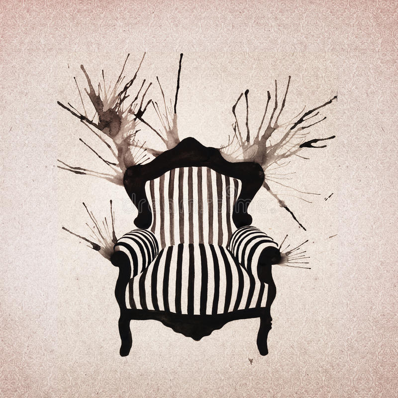 Download Baroque Armchair Background Stock Illustration - Illustration of dirty, book: 39503044