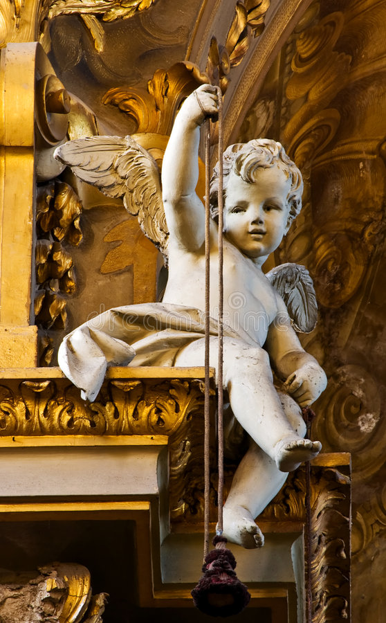 Baroque Baby Angel royalty free stock photo