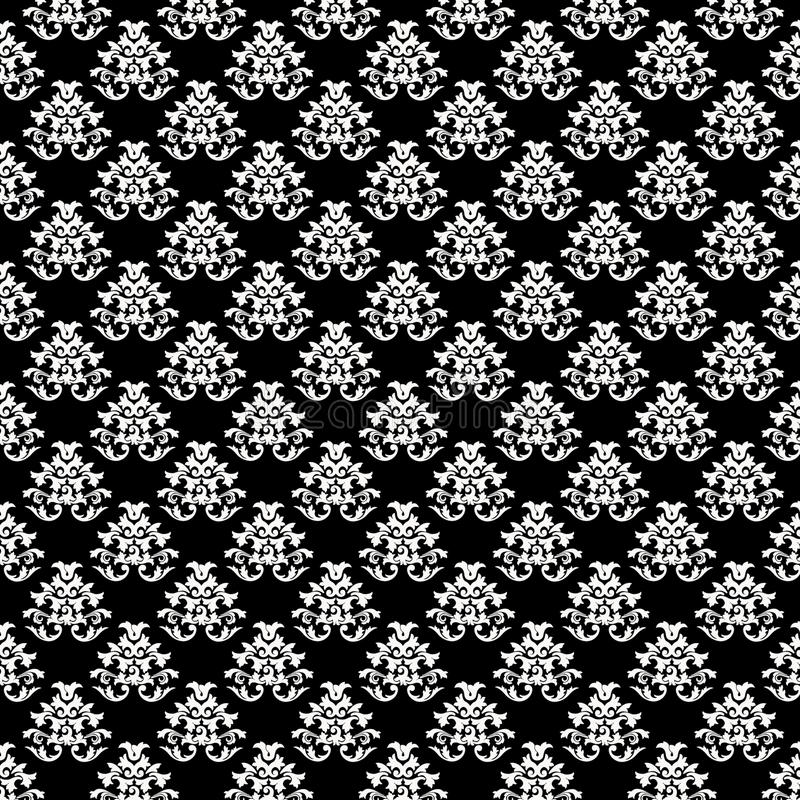 Baroque Background Pattern Texture - Black and Whi stock photography