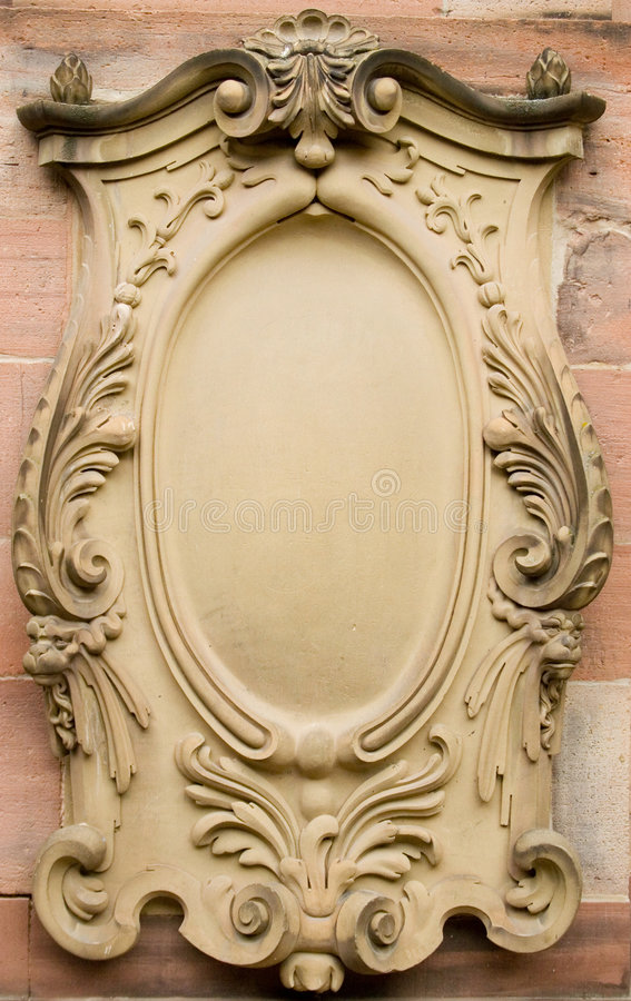 Baroque bas-relief board royalty free stock images