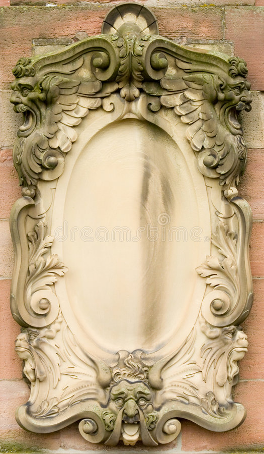 Baroque bas-relief board royalty free stock image
