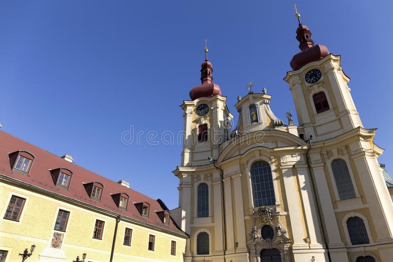 Baroque Basilica of the Visitation Virgin Mary, place of pilgrimage, Hejnice, Czech Republic stock photos
