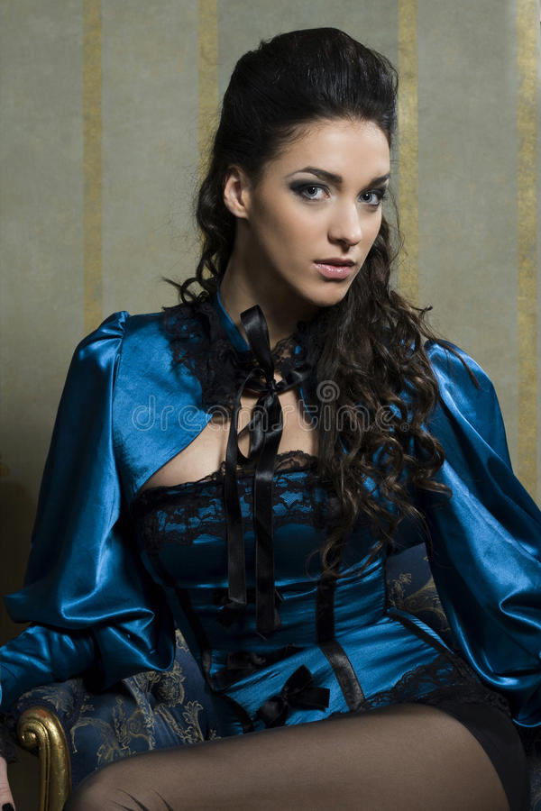 Baroque beauty of woman royalty free stock images