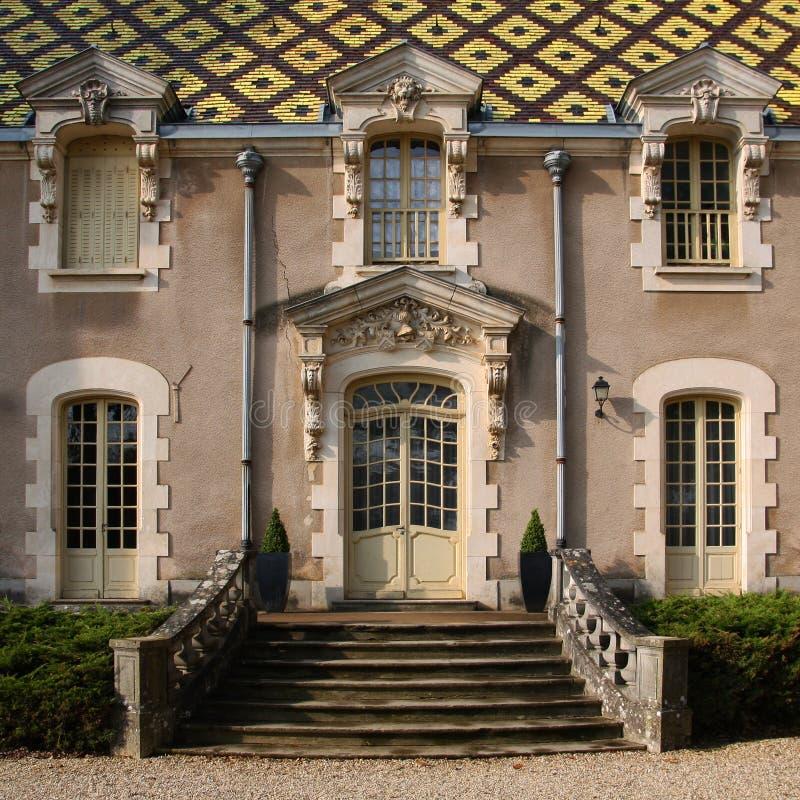 Baroque borgonhês - castelo Corton-Andre, France imagens de stock