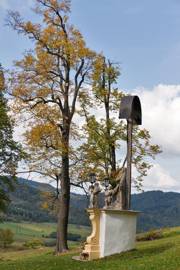 Baroque Calvary in Banska Stiavnica, Slovakia. stock photography