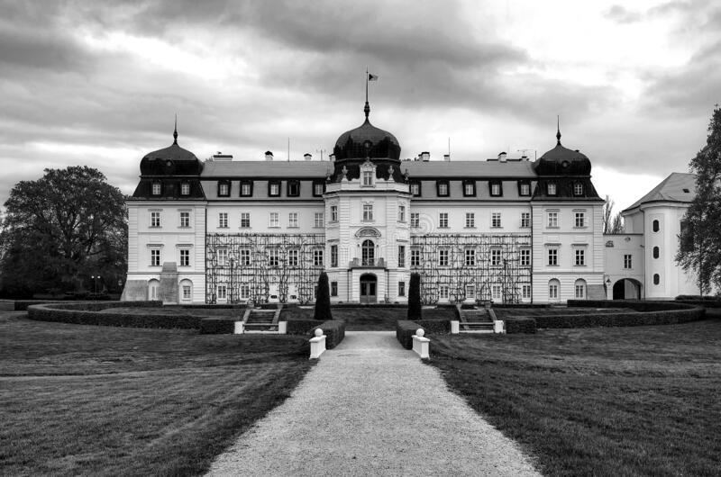 Baroque Castle Lany, residenza estiva del Presidente della Repubblica ceca fotografie stock