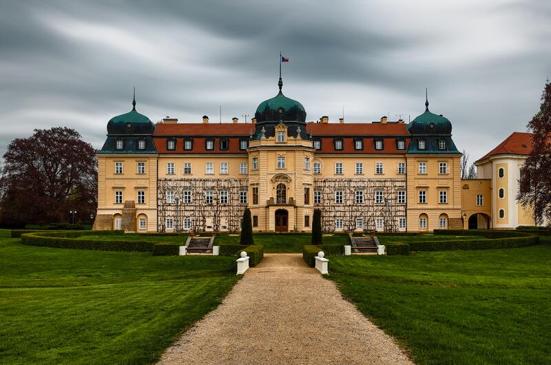 Baroque Castle Lany, residenza estiva del Presidente della Repubblica ceca fotografia stock