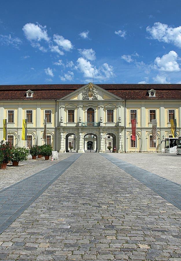 Baroque German castle Ludwigsburg in Stuttgart in Germany. Baroque castle of Ludwigsburg in Stuttgart in Germany stock image