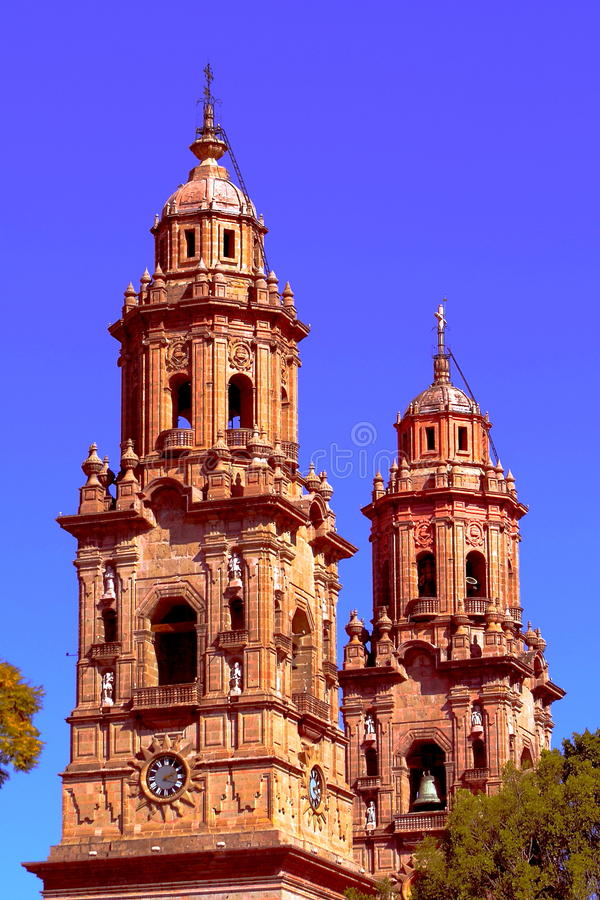 Free Baroque Cathedral Of Morelia In Michoacan, Mexico I Royalty Free Stock Photography - 44139367