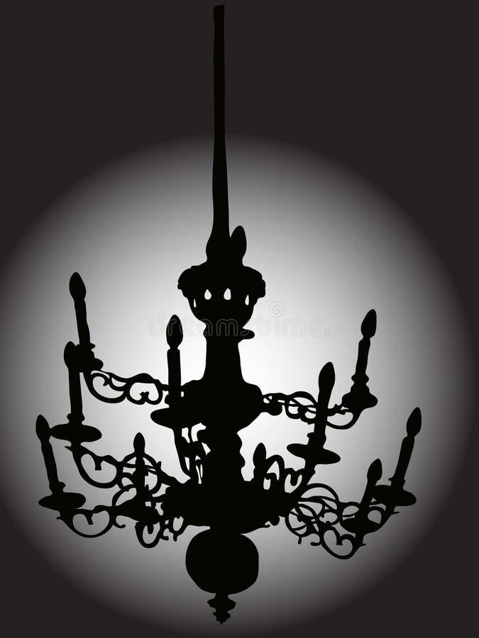 Baroque chandelier stock illustration