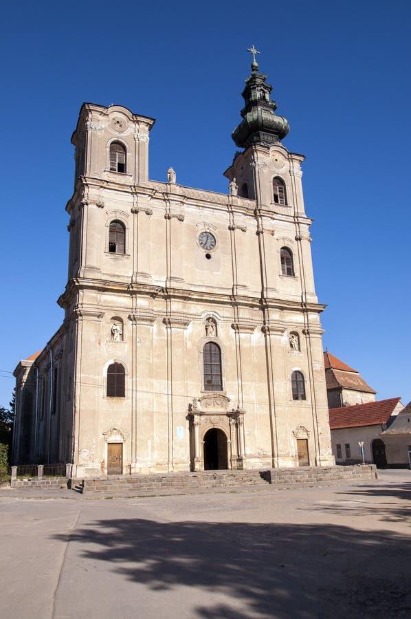 Baroque church. Baroque armenian church buillt in 18th century in Dumbraveni, Sibiu county, Transylvania, Romania royalty free stock images