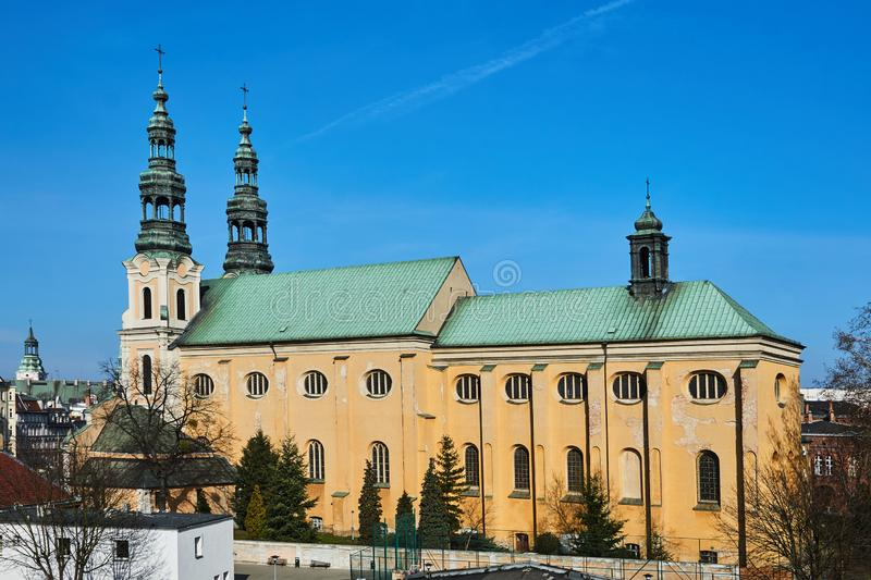 Baroque church of the Franciscan order. In the city of Poznan royalty free stock image