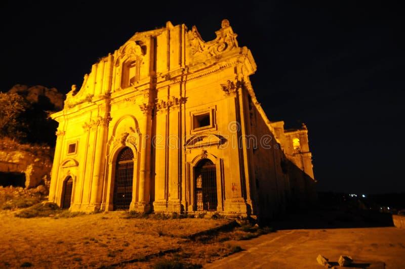 Baroque Church At Night Stock Photos