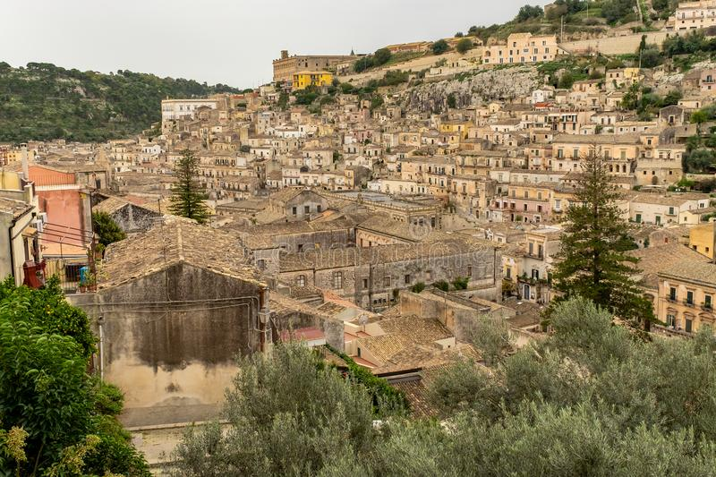 Baroque city of Modica in Sicily, Italy royalty free stock images
