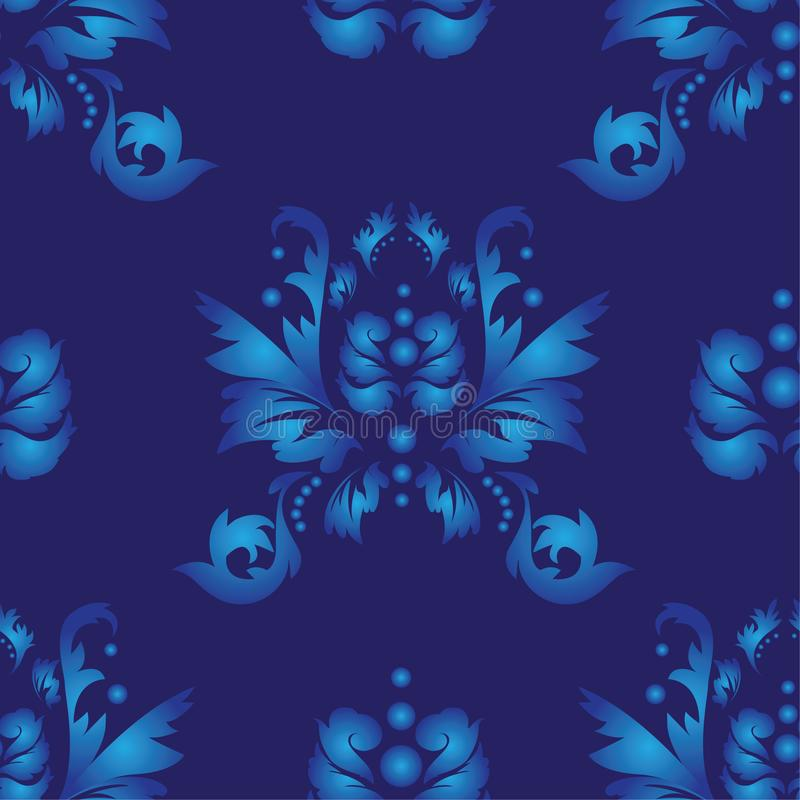 Baroque, damask wallpaper. Seamless pattern. Traditional oriental ornament stock images
