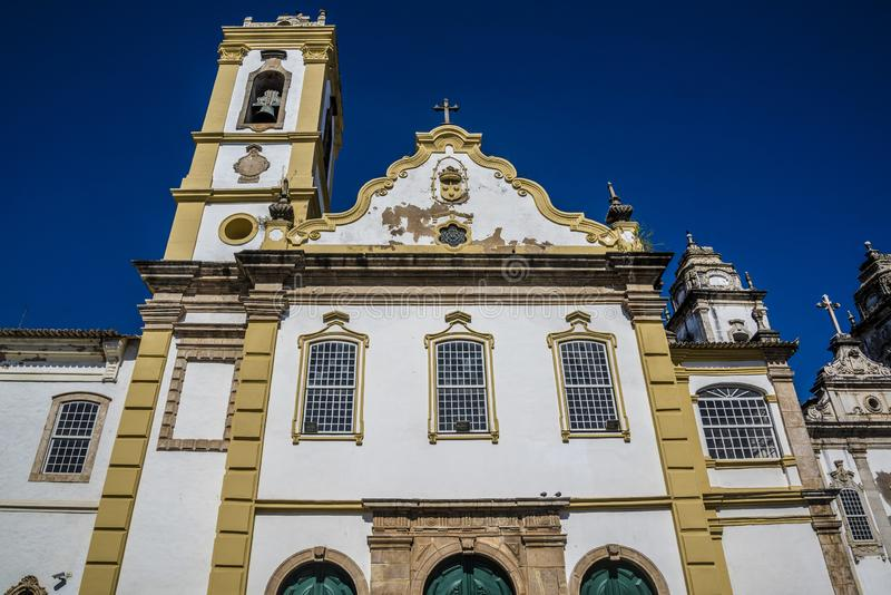 Baroque facade, Salvador, Bahia, Brazil stock photography