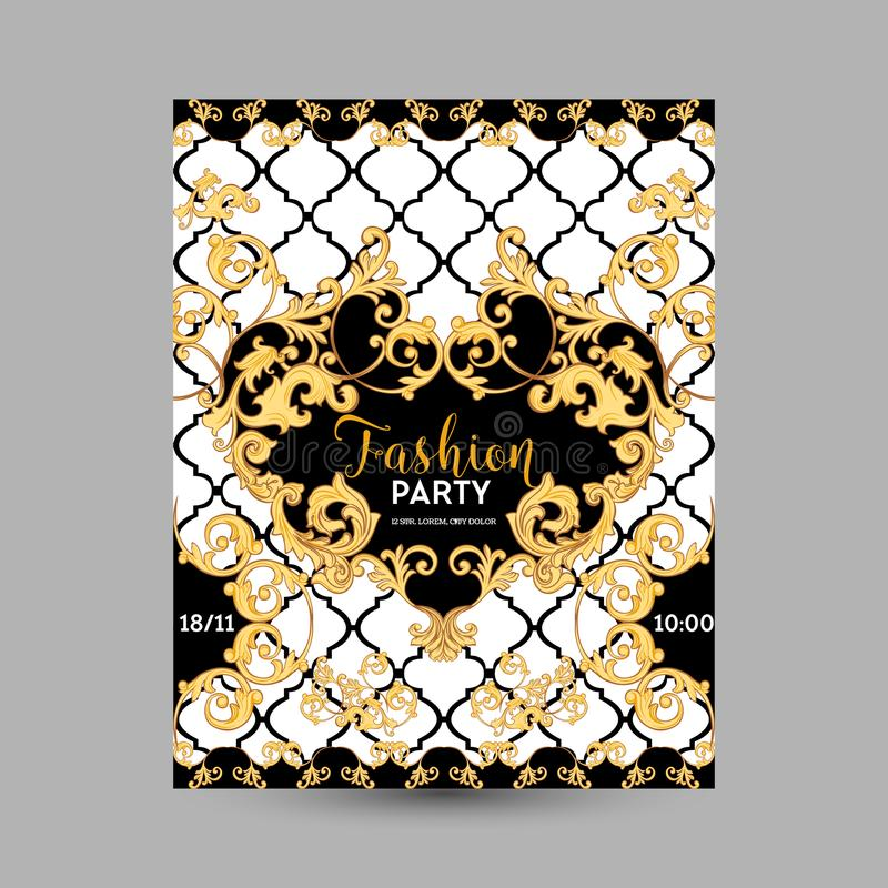 Baroque Fashion Decorative Design Posters Luxury Brochures Club