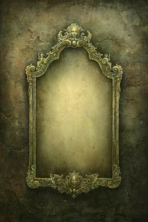 Baroque frame royalty free illustration