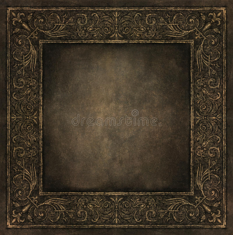 Baroque frame stock illustration