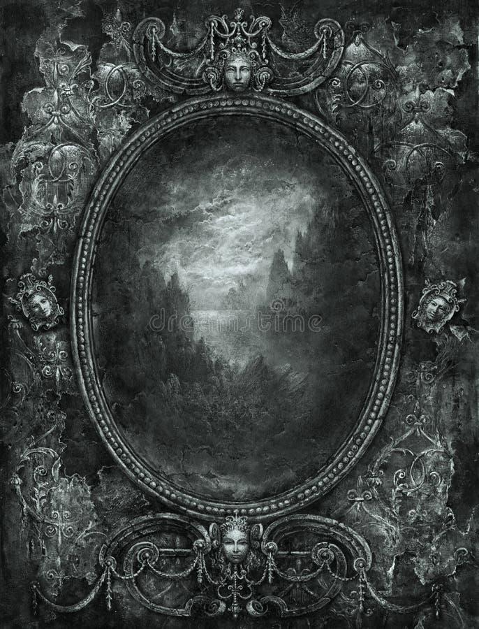 Baroque frame stock illustration