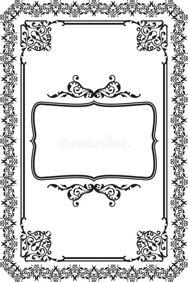 Baroque frame stock illustration. Illustration of filigree - 40727264