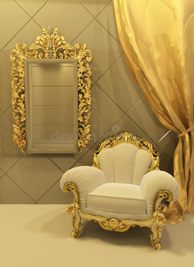Free Baroque Furniture In A Luxurious Interior Stock Photo - 16961430