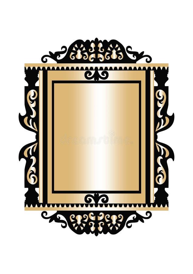 Baroque Golden Rococo Frame Decor Stock Image - Image of noble ...