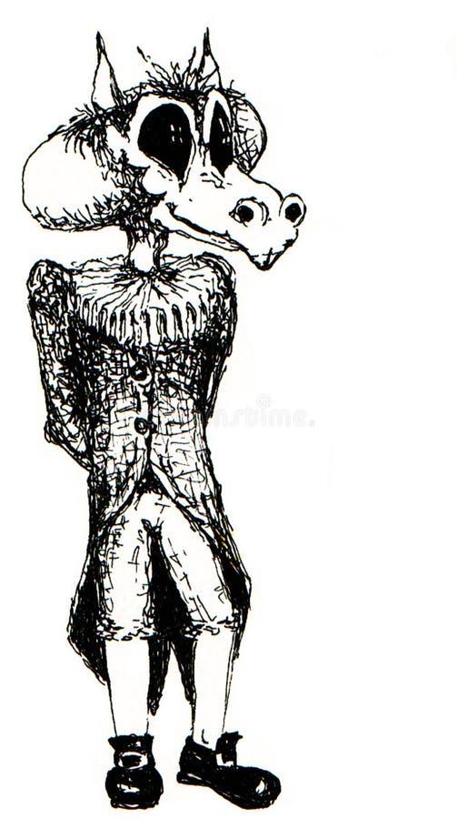 Baroque monster royalty free illustration