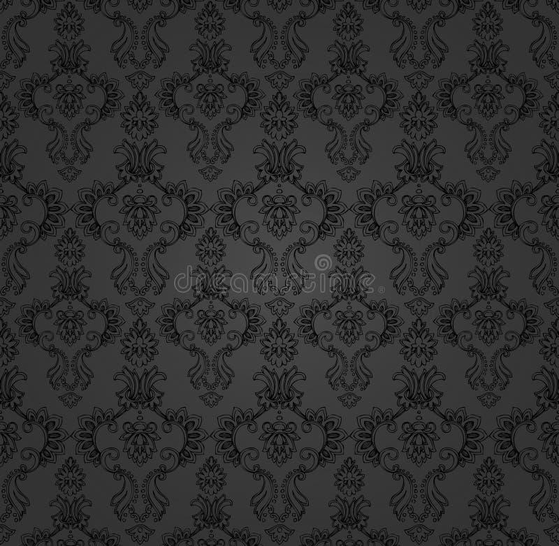 Baroque nero del contesto illustrazione di stock