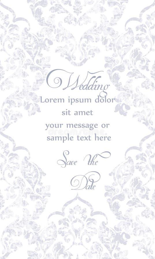 Baroque ornamented card Vector. Victorian Royal texture. Flower decorative design.Round frame. Pastel colors decors vector illustration