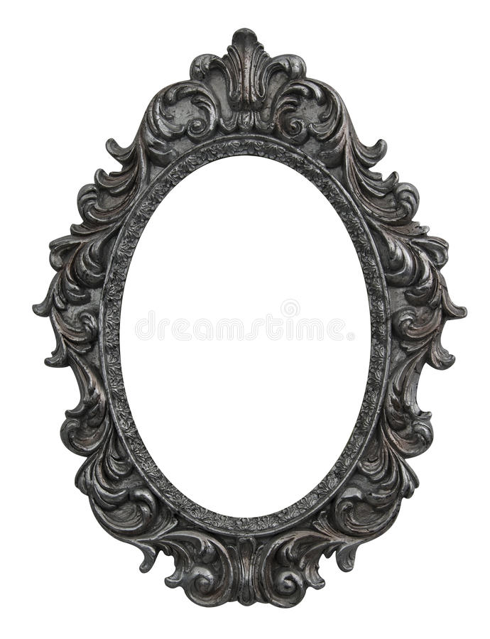 Baroque oval frame royalty free stock photos
