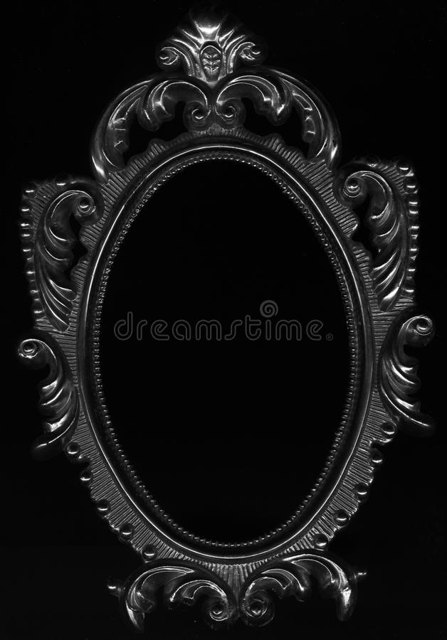 Baroque oval frame close up. royalty free stock photo