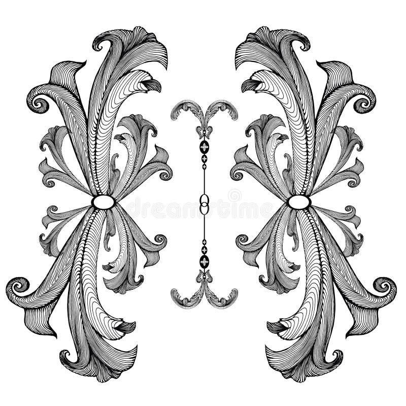 Baroque_pattern03 royalty free illustration