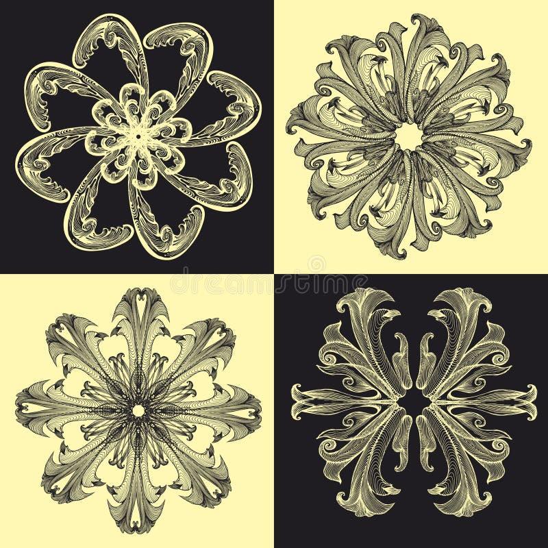 Baroque_pattern04 illustration libre de droits