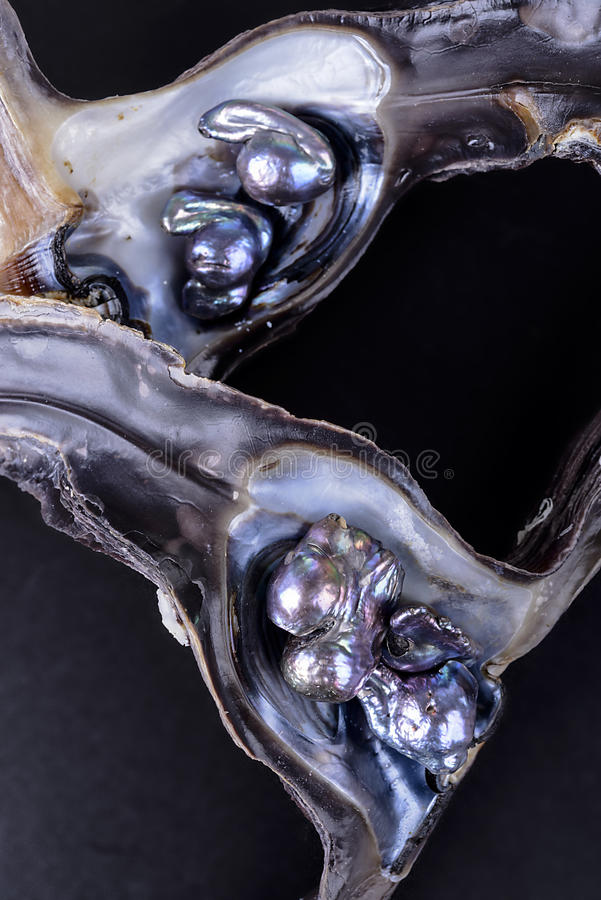 Baroque pearls royalty free stock photo
