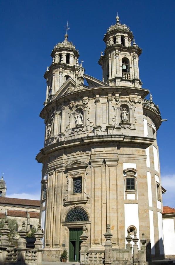 Baroque pilgrims church Virxe Peregrina Pontevedra. Spain, Pontevedra province, region Galicia, city Pontevedra. The church Sanktuarium of Virxe Peregrina stock image